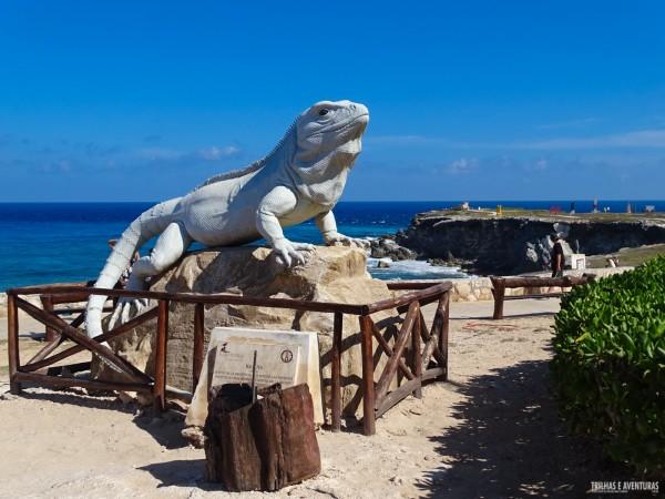 Estátua da Iguana em Punta Sur