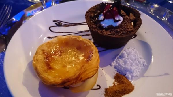 Pastel de Belém, um dos famosos doces portuguêses que tem no resort