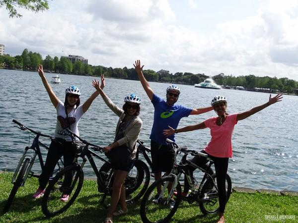 Passeio de bike em Lake Eola Park - Orlando