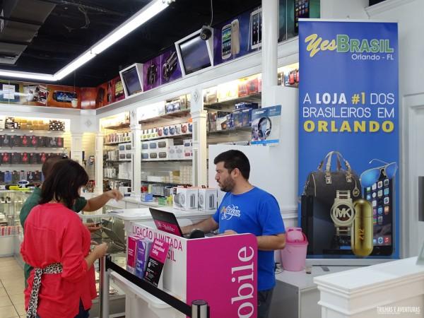 Yes Brasil, bons preços e vendedores que falam português