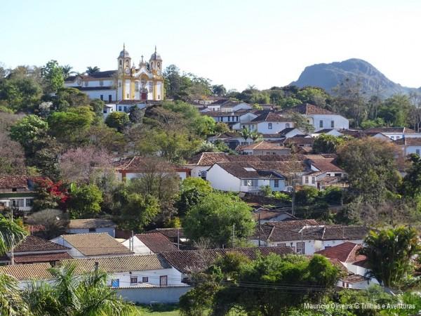 Vista da Capela para a cidade de Tiradentes