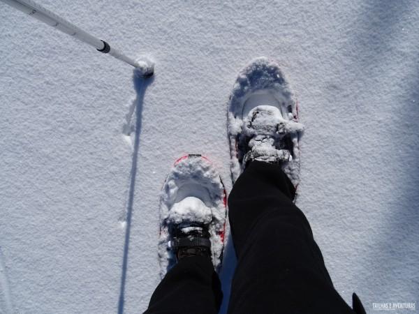 Passeio com raquetes de neve