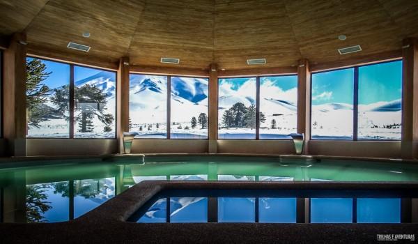 Piscina aquecida do Valle Corralco Hotel & Spa - Chile