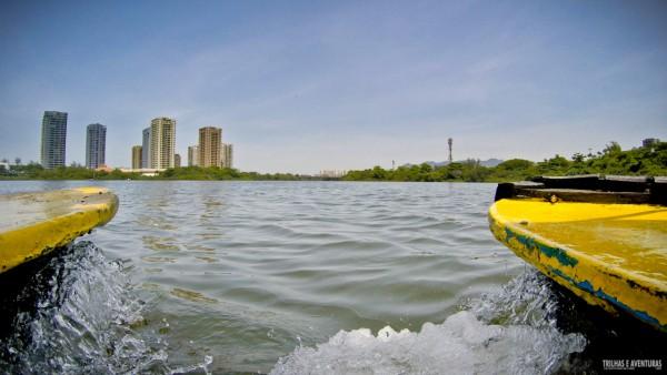 Dia lindo para um passeio de barco pela Lagoa de Marapendi