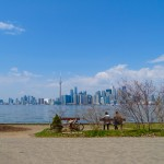 Vista da Skyline durante o Bike Tour em Toronto Islands