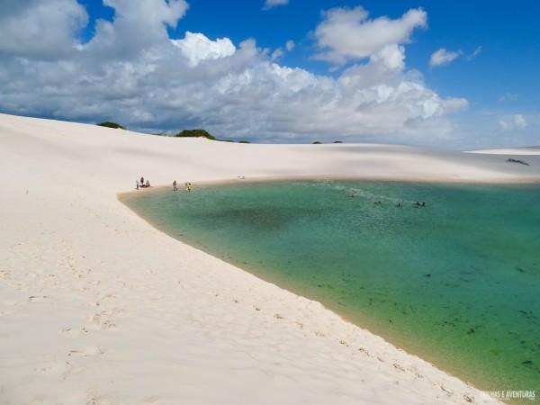 Lagoas de cor esmeralda nos Lençóis Maranhenses - Rota das Emoções