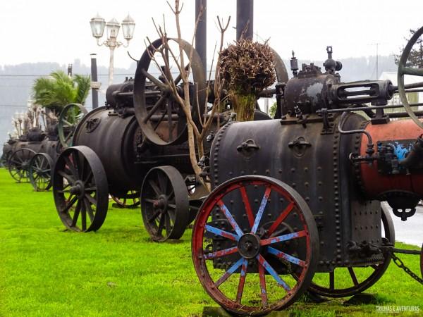 Museu de Locomotivas a Vapor em Puerto Domínguez