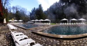 Piscinas termais do Hotel e Spa Termas Huife
