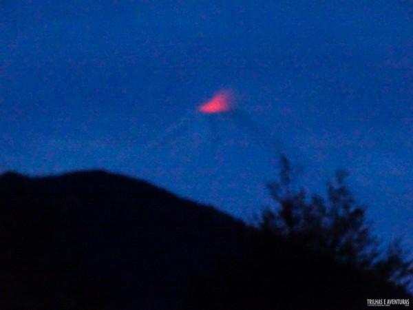 Vulcão Villarrica em atividade