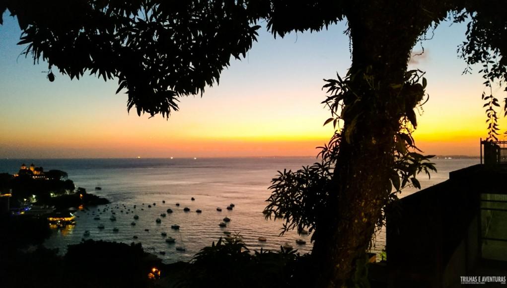 Pôr-do-sol no Café Terrasse em Salvador - BA