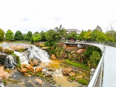 Falls Park on the Reedy em Greenville