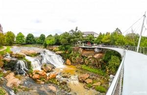 Falls Park on the Reedy em Greenville