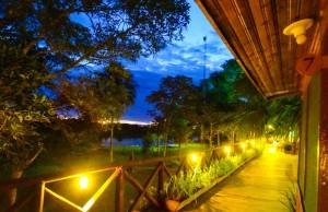 Fim de tarde no Pantanal Jungle Lodge