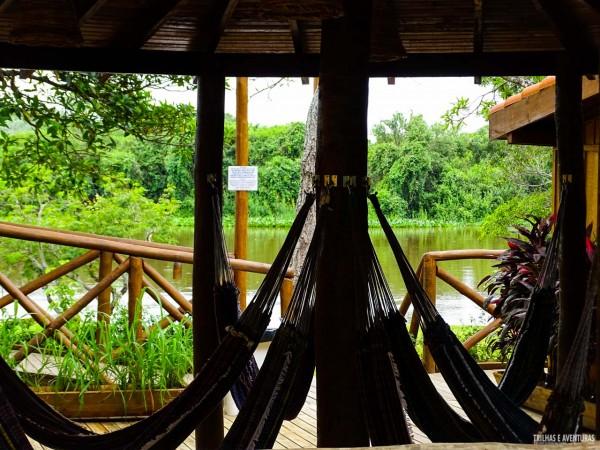 Redário para relaxar no Pantanal Jungle Lodge