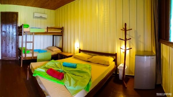 O quarto que ficamos no Pantanal Jungle Lodge