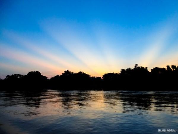 Raios de sol no fim de tarde do Pantanal