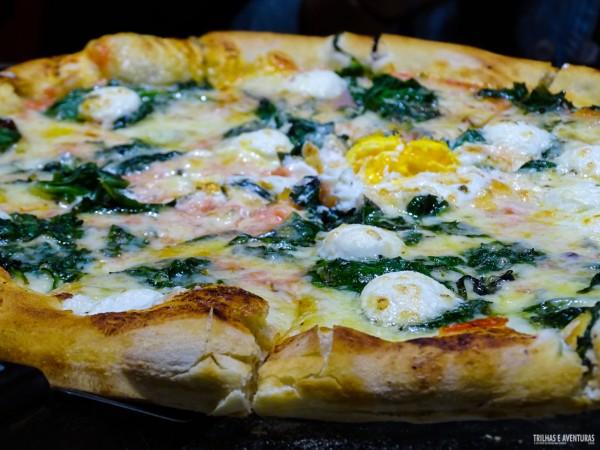 Pizza di Spinaci & Formagio de Capra
