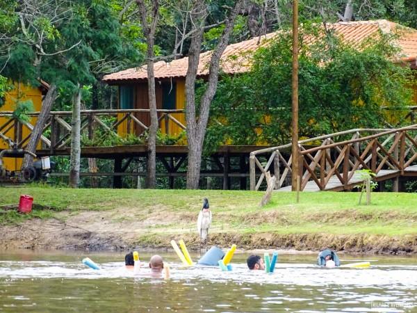 Flutuação no rio Miranda