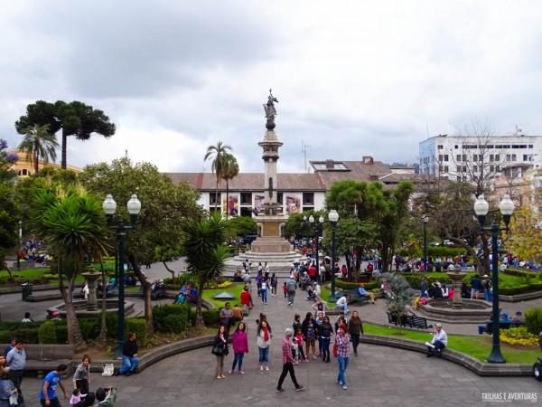 Plaza Grande, no Centro Histórico de Quito