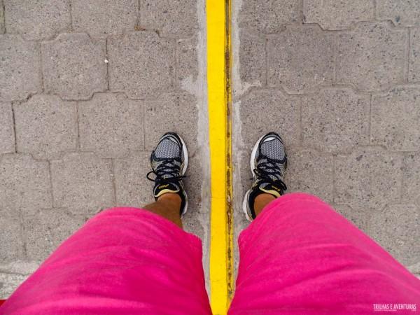 A linha do Equador na Ciudad Mitad Del Mundo