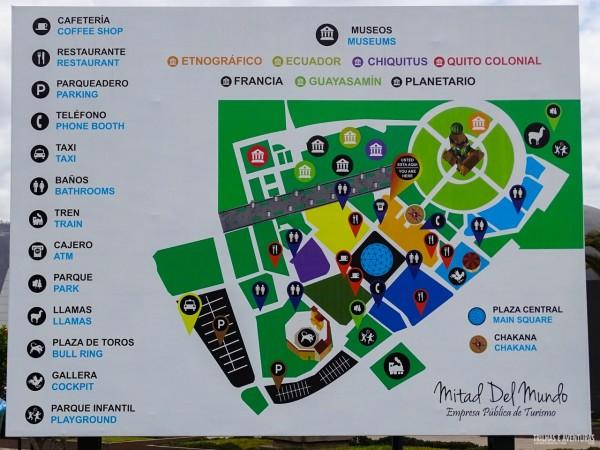 Mapa da Ciudad Mitad Del Mundo, em Quito
