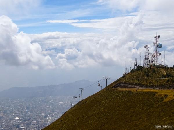 Na volta o tempo abriu para deixar a vista do Teleférico de Quito ainda mais bonita