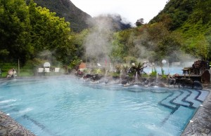 As águas termais vem direto de um vulcão!