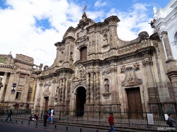 Igreja no Centro Histórico de Quito