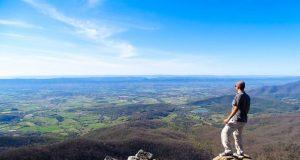 Vista da trilha no Parque Nacional de Shenandoah