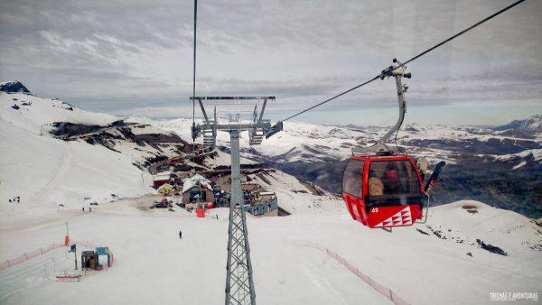 Tour de gôndolas pelas montanhas do Valle Nevado
