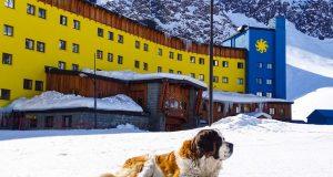 O mascote de Ski Portillo dando as boas vindas a todos