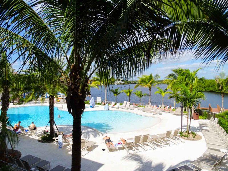 Vista do meu quarto, no Hotel Hyatt House/Naples 5th Avenue