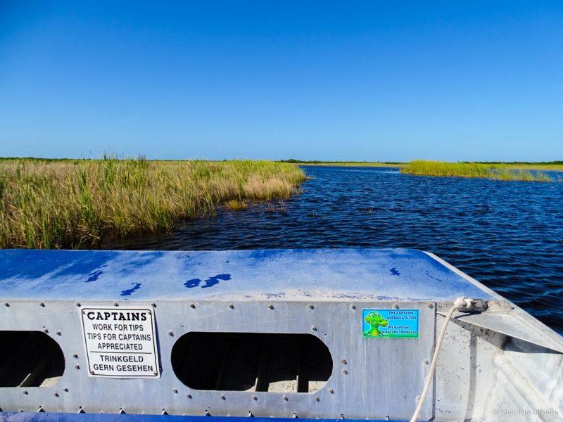 Os passeios de Airboats fazem sucesso nos Everglades