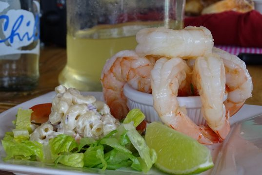 Camarões VG do The West Deck, um dos melhores Restaurantes em Aruba