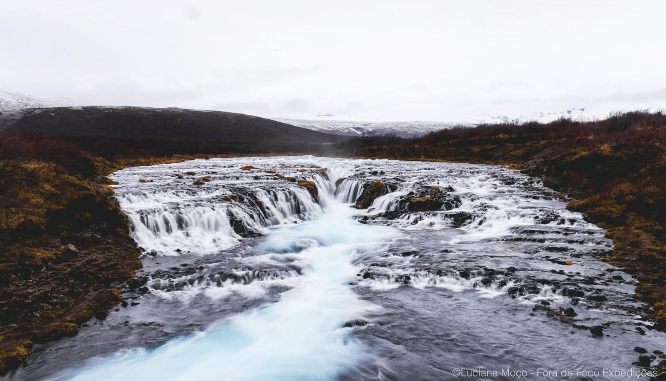 Bruarfoss possui as águas mais azuis da Islândia