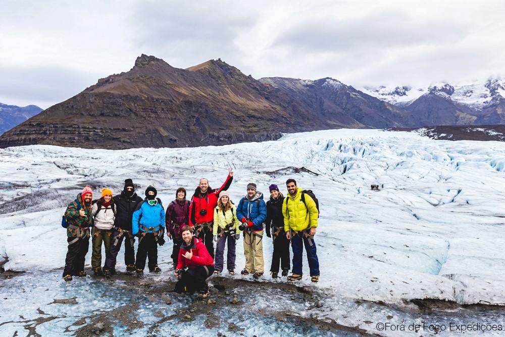 Nosso grupo do Fora de Foco na geleira Vatnajökull