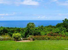 """Vista da nossa """"cozinha"""" no Yaaman Adventure Park, na Jamaica"""