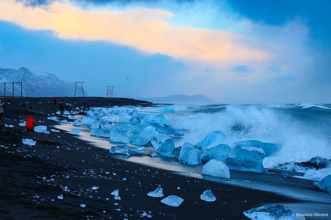 Diamond Beach, a praia de icebergs na Islândia