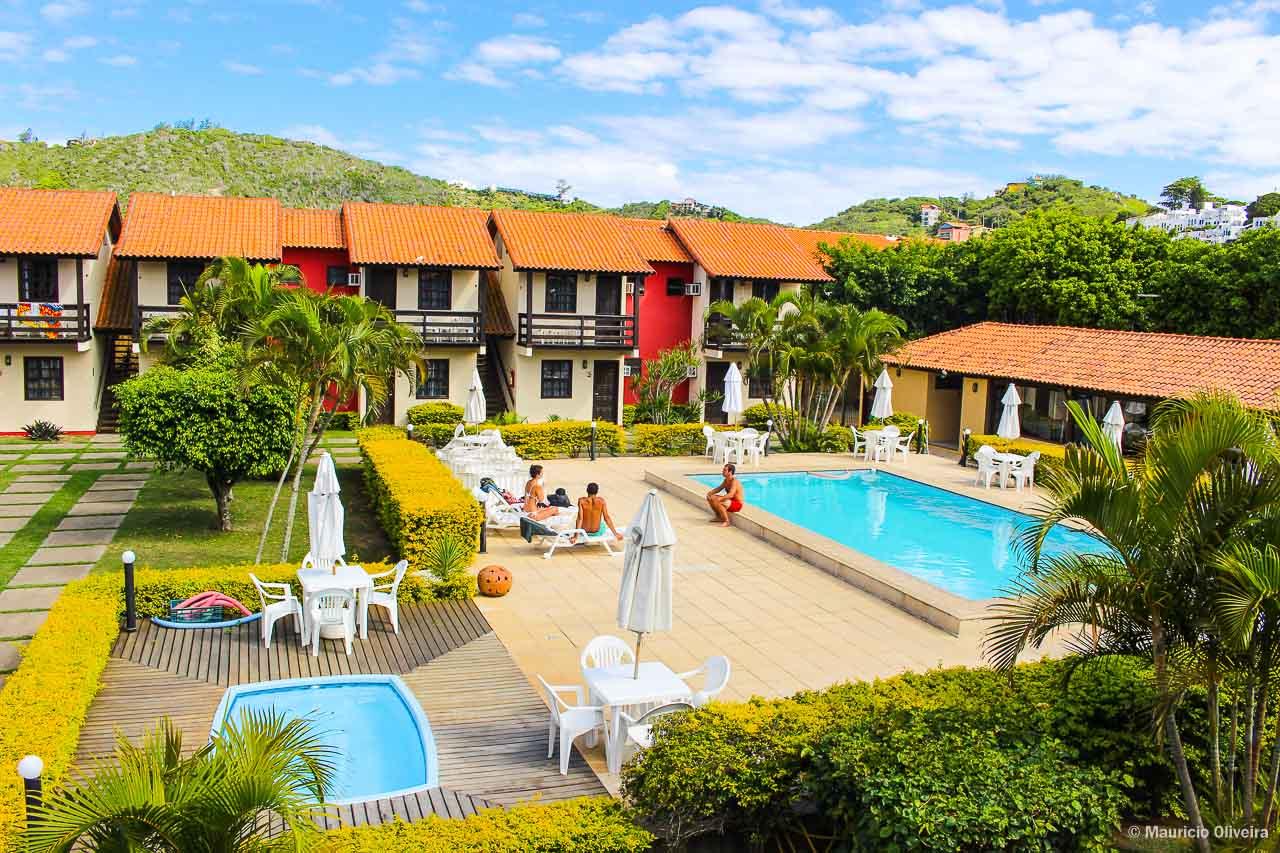 Vista do nosso quarto na Pousada do Timoneiro em Arraial do Cabo