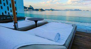 Vista deslumbrante da cobertura do Hotel Emiliano Rio