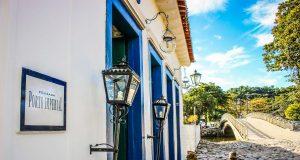 A Pousada Porto Imperial está bem no Centro Histórico de Paraty