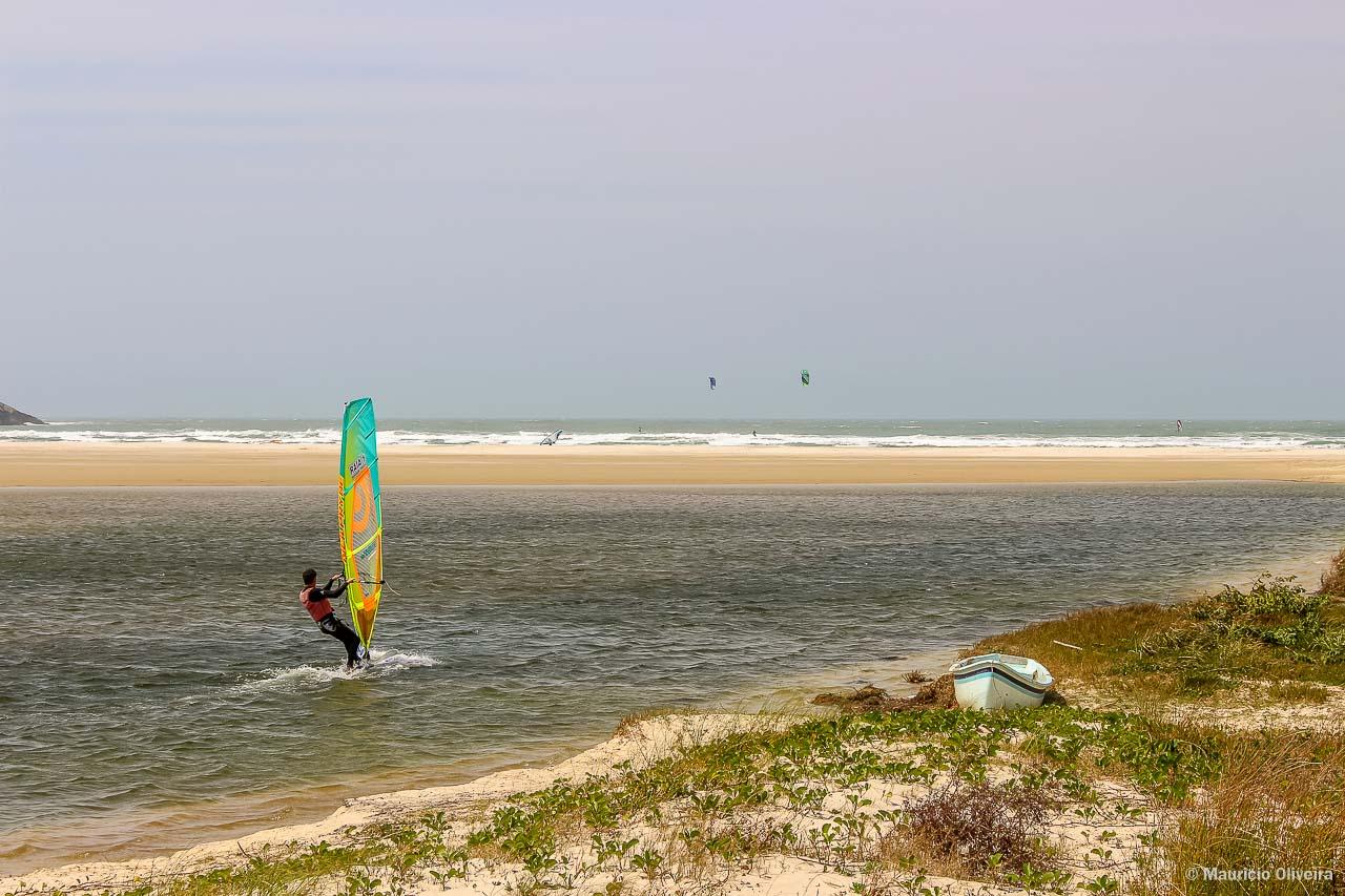 Point de Kite e Windsurf em Barra de Ibiraquera, em Imbituba - SC