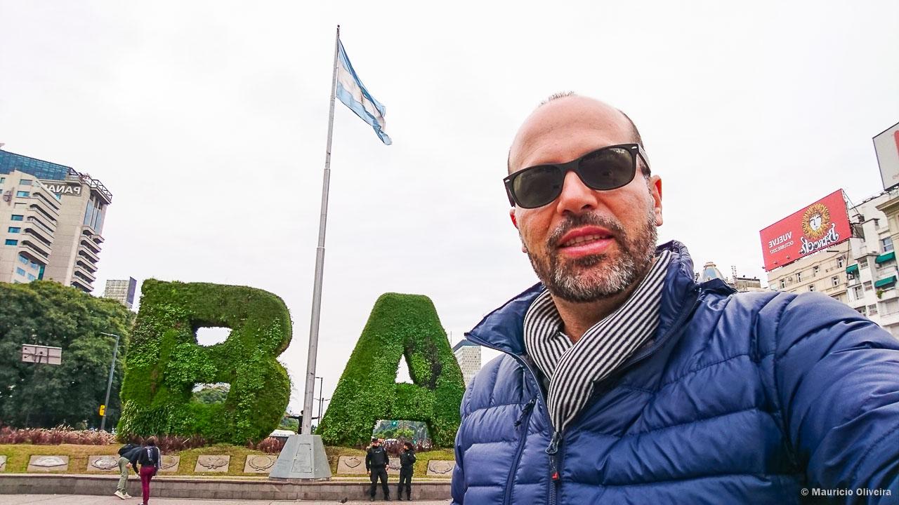 Comecei meu Roteiro a pé em Buenos Aires pelo Obelisco