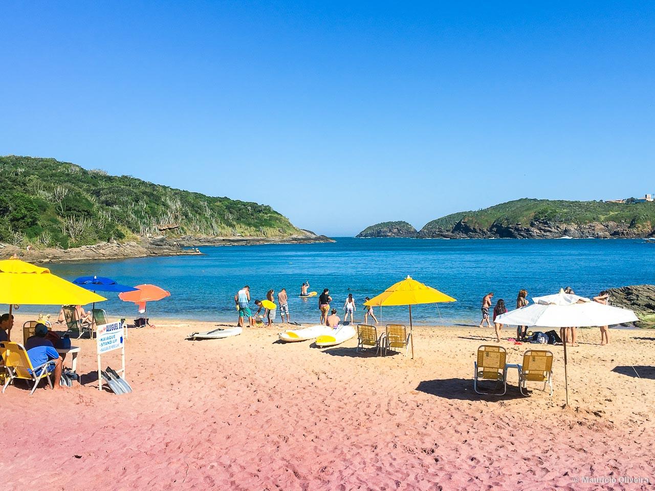 Praia do Forno - Praia de areia Rosa em Búzios