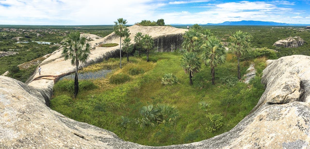 Panorâmica do Jardim de Carnaúbas, em Chaval - CE