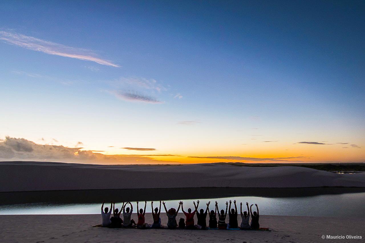 Amanhecer nos Lençóis Maranhenses - Foto: Fábio Oliveira