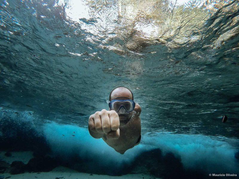 Aquaman na Cachoeira do Formiga no Jalapão