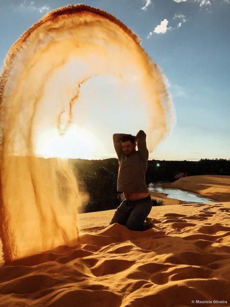 Pôr do sol nas dunas do Jalapão