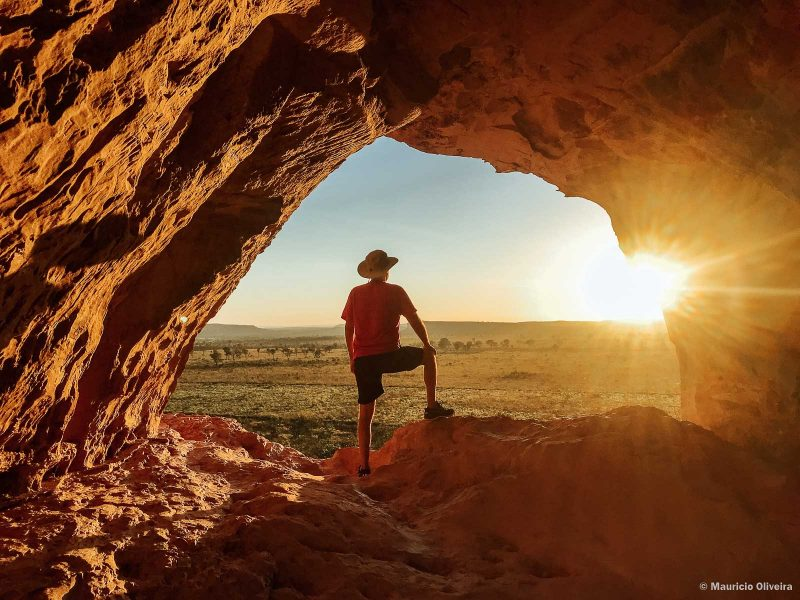 Nascer do sol na Pedra Furada - Jalapão