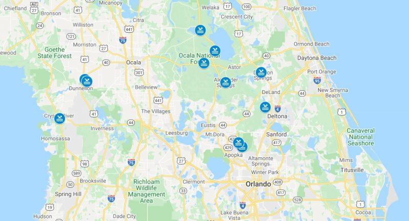 Springs na Flórida perto de Orlando